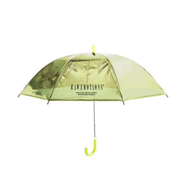 Yellow Rawemotions Logo Clear Umbrella