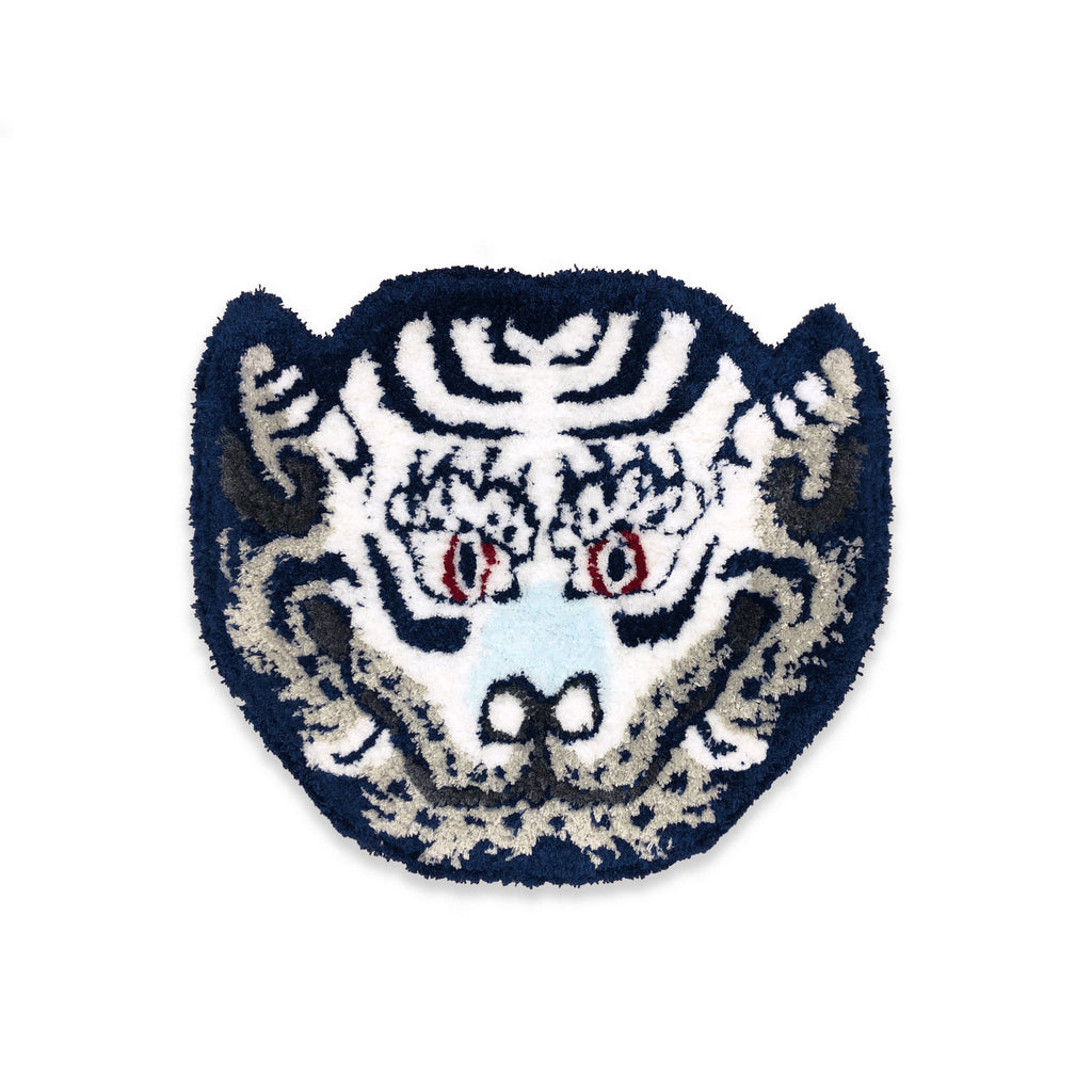 White Tiger Head Rug Coaster