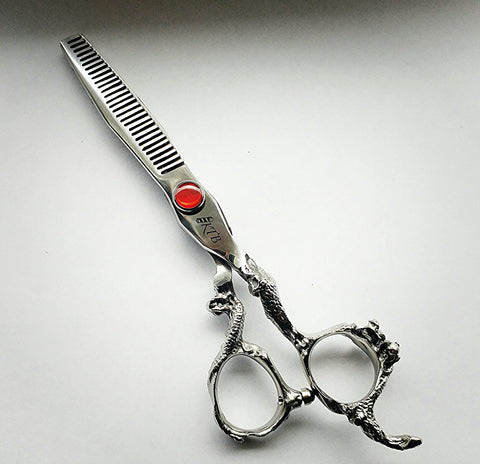 Dragon Handle Thinning Shear. - KTB Barber Supply