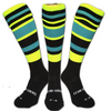 Black, Yellow, Blue hoops - Hockey Socks