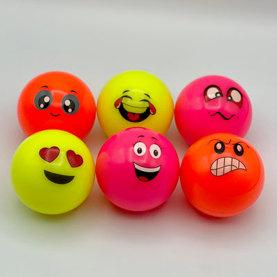 Emoji Hockey Balls - 6 pack