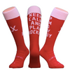 Keep Calm, Red - Hockey Socks