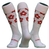 Red Flower - Hockey Socks