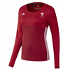 Wales Hockey Replica Playing Shirt (Womens, Red, Long Sleeves)