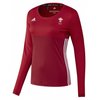 Wales Hockey Replica Playing Shirt (Youth, Girls, Red, Long Sleeves)