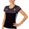 Wales Hockey Replica Playing Shirt (Womens, Black, Short Sleeves)