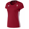 Wales Hockey Replica Playing Shirt (Youth, Girls, Red, Short Sleeves)