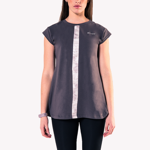 Rose Stripe Open Cut T-Shirt