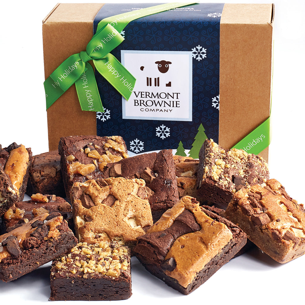 """Happy Holidays"" Gourmet Brownie Sampler"