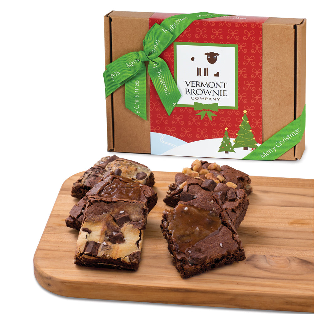 """Merry Christmas"" Gourmet Brownie Sampler"