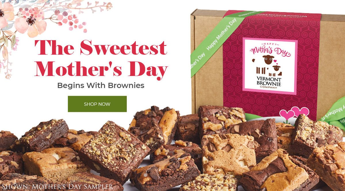 Gift a Taste of<br>Vermont this<br>Thanksgiving...<br>Send Brownies!