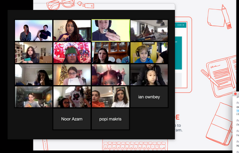 image of zoom hangout for online coding for kids workshop