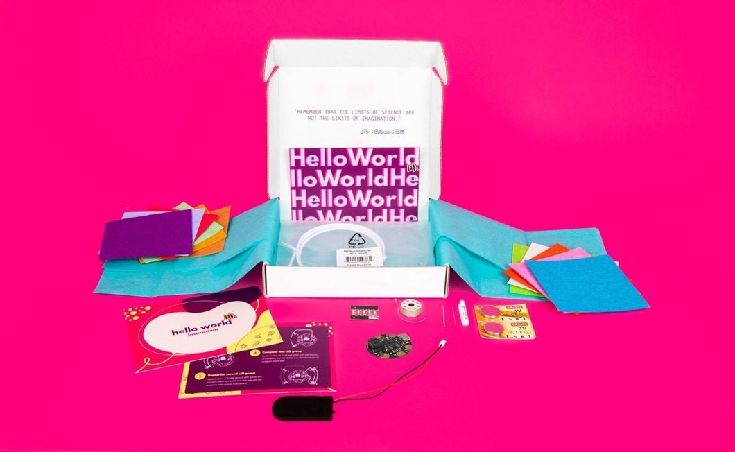 Jewelbits Science Kits: Hello World, Electronics (Ages 8-14) -  DIY Party Set (2 White Bands)