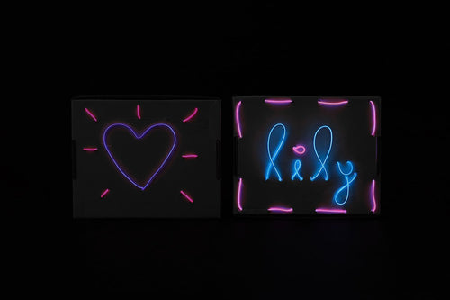 Jewelbits Science Kits: Hello World, Neon -  DIY Party Set (2 White Bands)