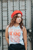 Be Kind Stacked Tie-Dye Muscle Tank