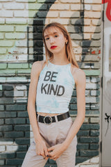 Be Kind Tie Dye Fitted Crop Tank