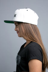 BE BRAVE Original Snapback Hat in Cream/Blk