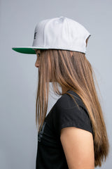 BE BRAVE Original Snapback Hat in silver