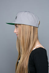 BE FREE Embroidered Snapback Hat in silver
