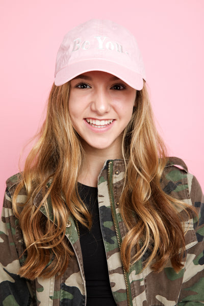 BE YOU Baseball Cap in soft pink