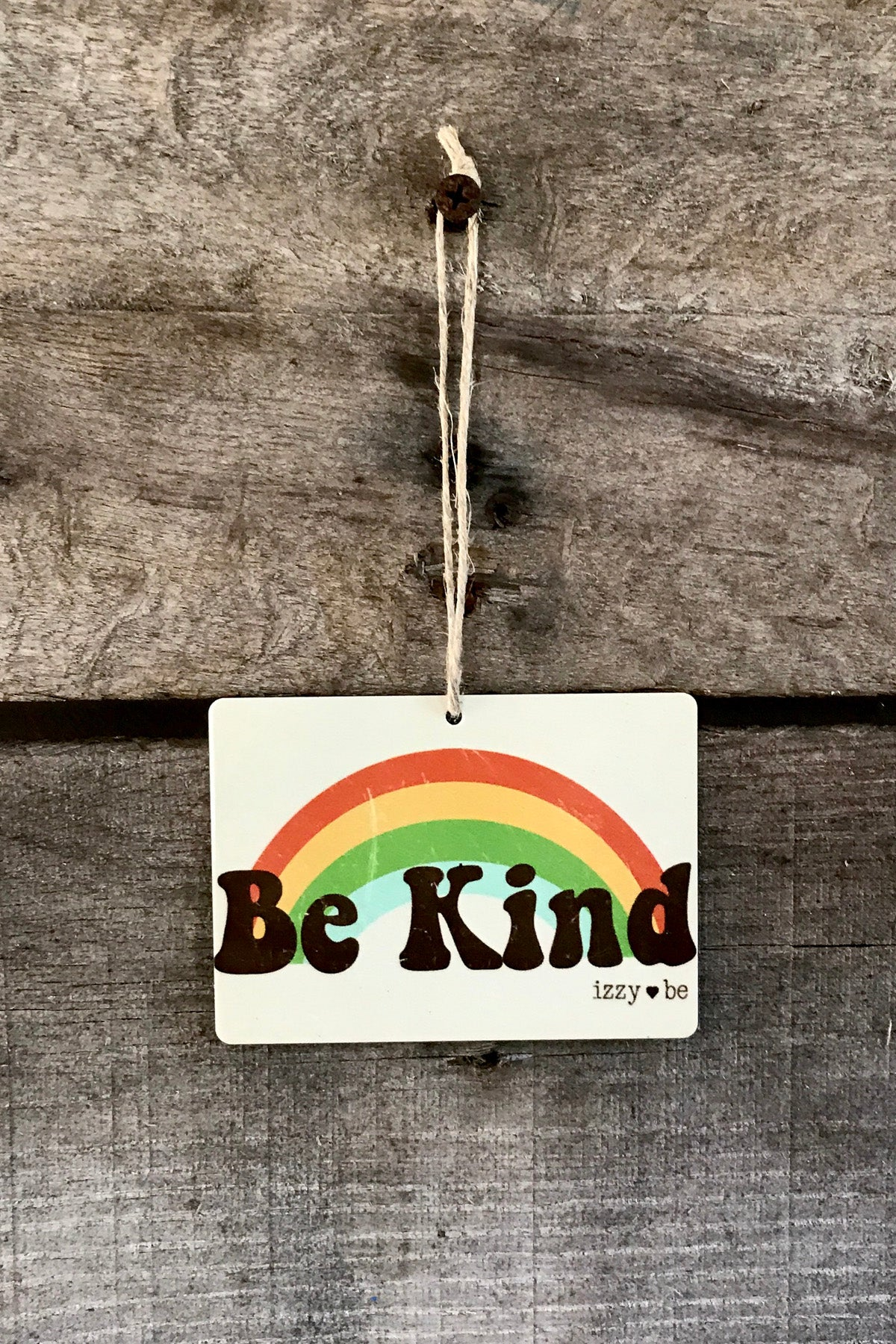 BE KIND Retro Rainbow Mini Metal Prints
