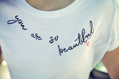 YOU ARE SO BEAUTIFUL Classic Tee Vintage White