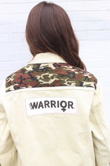 Warrior Pastel Lime Denim Jacket