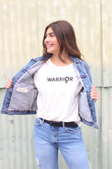 Warrior Vintage White Rocker Tee