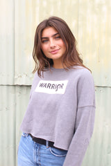 Warrior Grey Cropped Sweatshirt