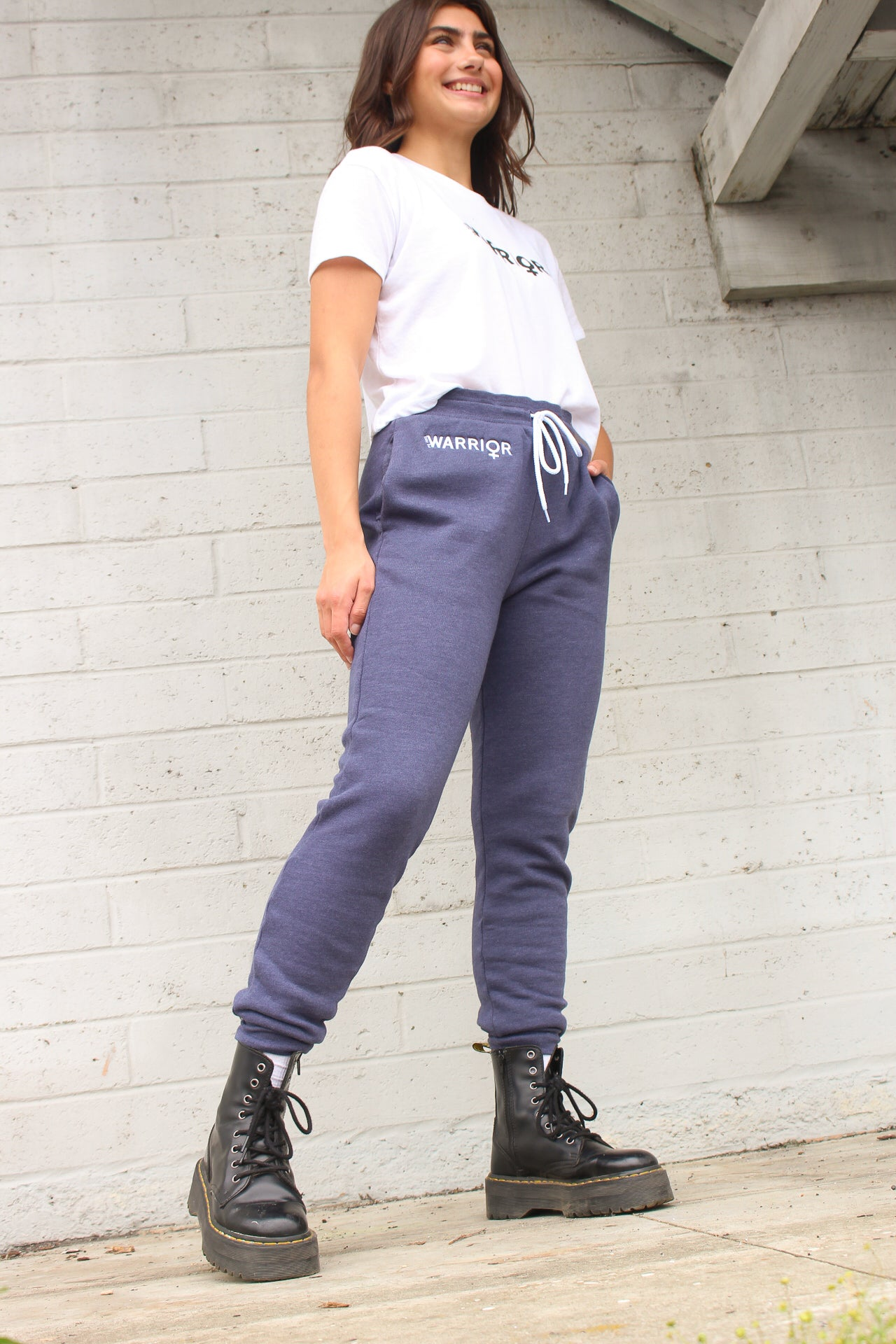 Warrior Navy Embroidered Sweatpants