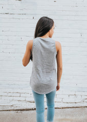 Be Strong Tank in Grey