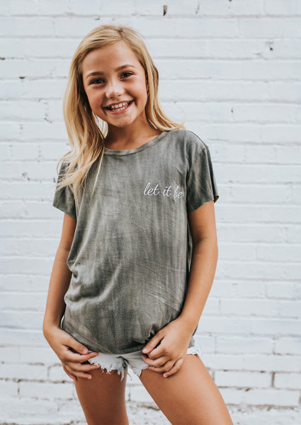 Let it Be Tee in Olive