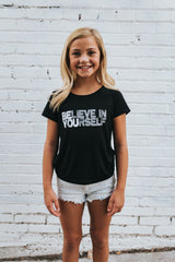 Believe in Yourself Tee in Black