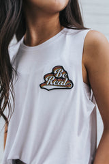 Be Real Patch Tank in White