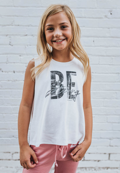 Be Strong Tank in Ivory