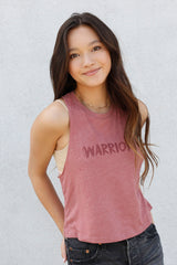 WARRIOR Muscle Tank in rose