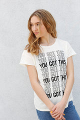 YOU GOT THIS Boyfriend T-Shirt Vintage White