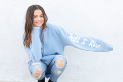STILL I RISE Unisex Hoodie in light blue