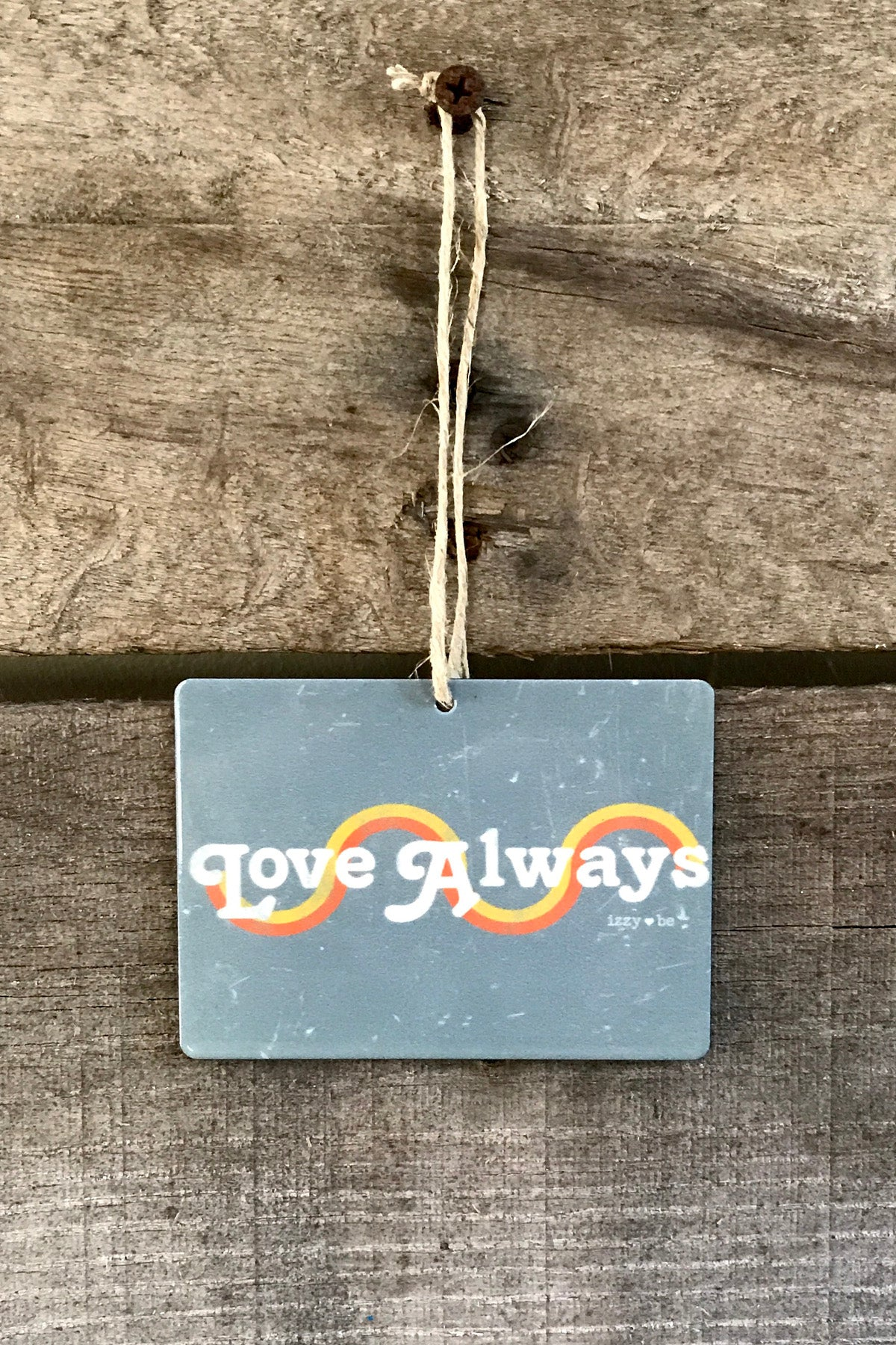 LOVE ALWAYS Retro Mini Metal Prints