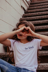 Be Kind embroidered perfect tee in white