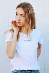 LOVE IS KIND Perfect Tee in Vintage White