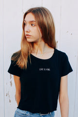 LOVE IS KIND Perfect Tee in Black