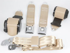 1970-73 Corvette Shoulder Belt System with Single Retractors-RetroBelt