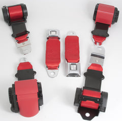 1972-73 Corvette Shoulder Belt System with Dual Retractors-RetroBelt