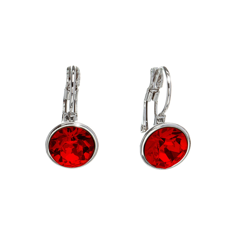 Everyday Crystal Leverback Earrings
