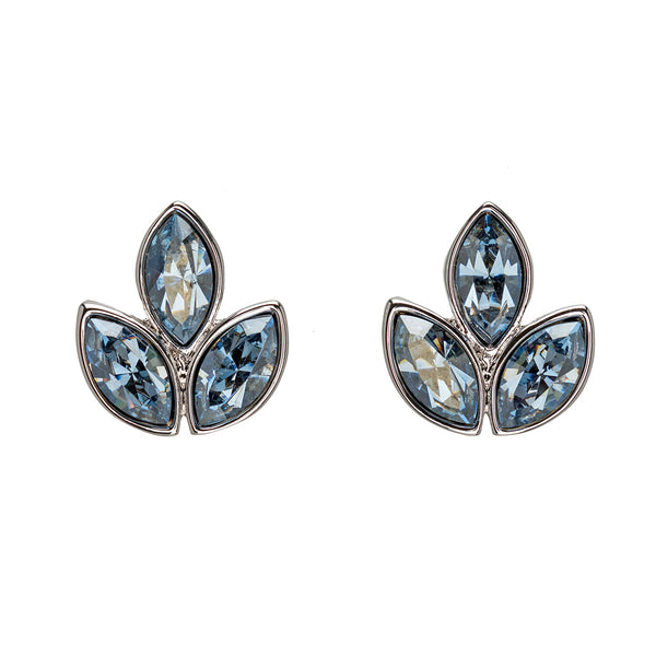 Crystal Leaf Marquis Stud Earrings