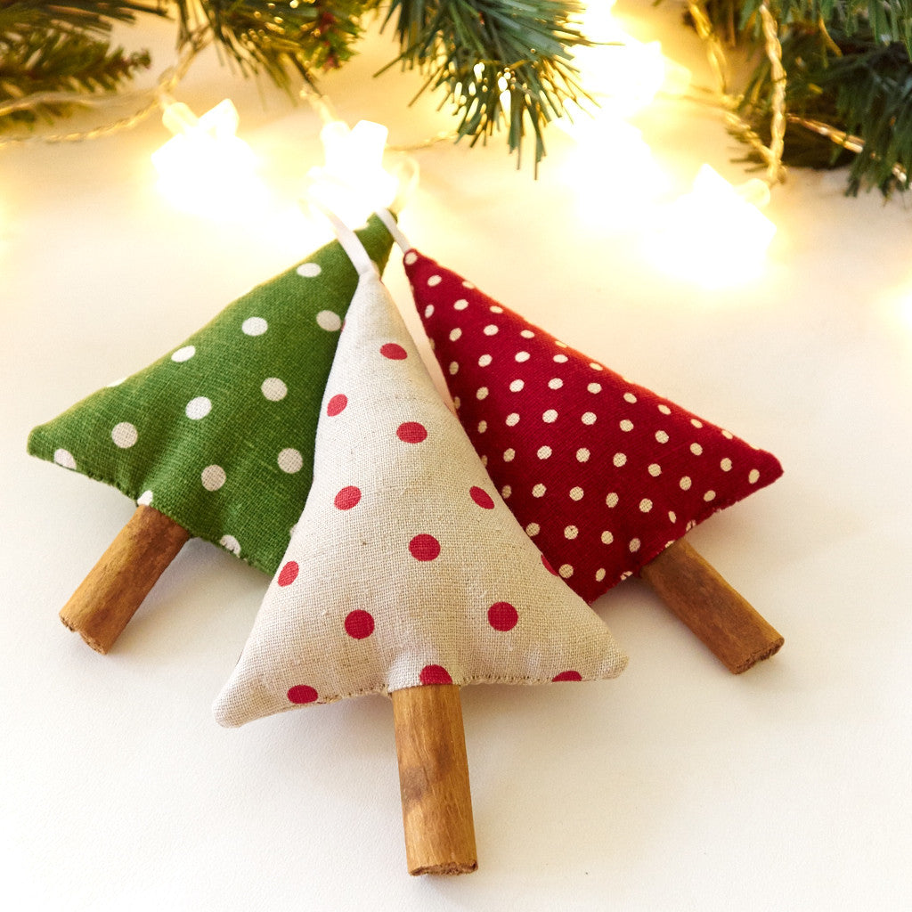 Polka dot christmas ornaments - Woodland Polka Dot Christmas Tree Ornaments Christmas Decorations Song Of The Seam 3