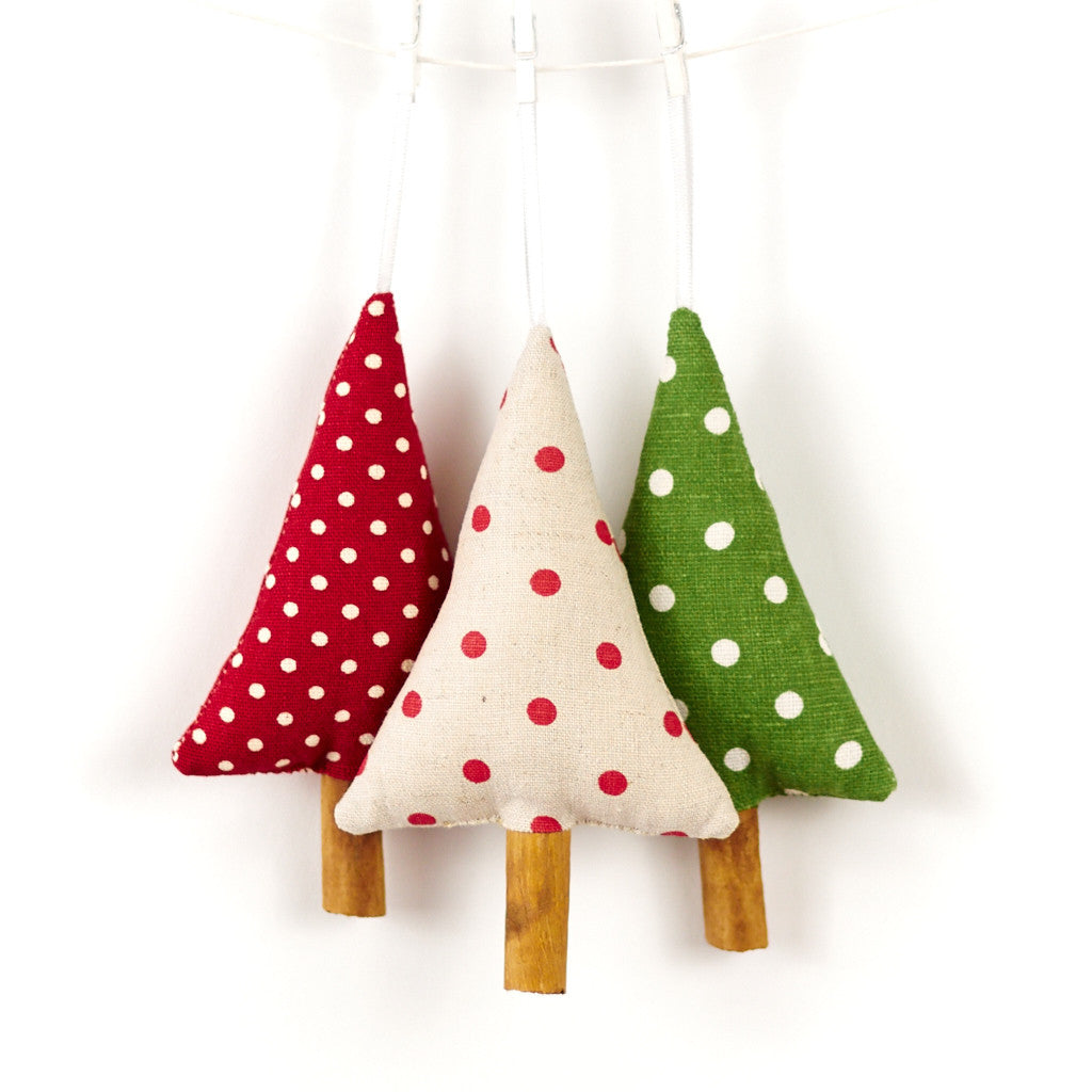 Polka dot christmas ornaments - Woodland Polka Dot Christmas Tree Ornaments Christmas Decorations Song Of The Seam 1