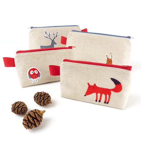 Small Red Fox Make Up Bag - Toiletry Bags - Song of the Seam - 6