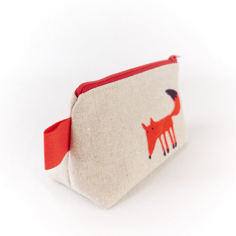 Small Red Fox Make Up Bag - Toiletry Bags - Song of the Seam - 4